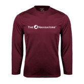 Performance Maroon Longsleeve Shirt-The Navigators