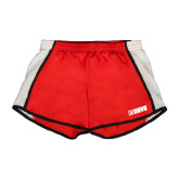 Ladies Red/White Team Short-NAVS