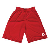 Midcourt Performance Red 9 Inch Game Short-Navigators Sail