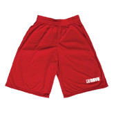 Midcourt Performance Red 9 Inch Game Short-NAVS