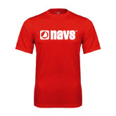 Performance Red Tee-NAVS