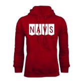 Cardinal Fleece Hood-NAVS Block Flag Reverse Font