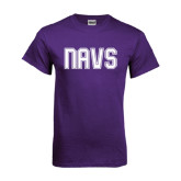 Purple T Shirt-NAVS Collegiate Modern