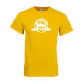 Gold T Shirt-Eagle Lake Badge