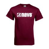 Maroon T Shirt-NAVS