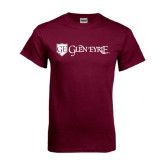 Maroon T Shirt-Glen Eyrie - Flat
