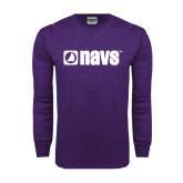 Purple Long Sleeve T Shirt-NAVS