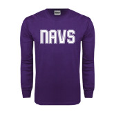 Purple Long Sleeve T Shirt-NAVS Collegiate Modern