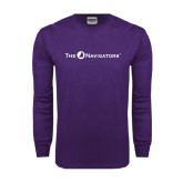 Purple Long Sleeve T Shirt-The Navigators