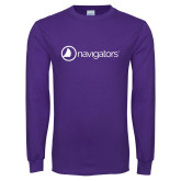 Purple Long Sleeve T Shirt-Navigators