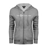 ENZA Ladies Grey Fleece Full Zip Hoodie-The Navigators