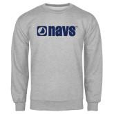 Grey Fleece Crew-NAVS