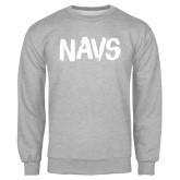 Grey Fleece Crew-NAVS Brush Font