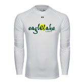 Under Armour White Long Sleeve Tech Tee-Eagle Lake Camps