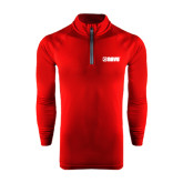 Under Armour Cardinal Tech 1/4 Zip Performance Shirt-NAVS