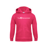 Youth Raspberry Fleece Hoodie-The Navigators