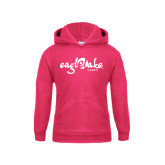 Youth Raspberry Fleece Hoodie-Eagle Lake Camps