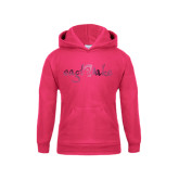 Youth Raspberry Fleece Hoodie-Eagle Lake Foil
