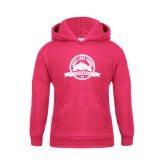 Youth Raspberry Fleece Hoodie-Eagle Lake Badge