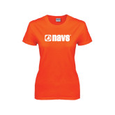 Ladies Orange T Shirt-NAVS