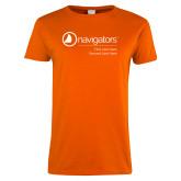 Ladies Orange T Shirt-Navigators