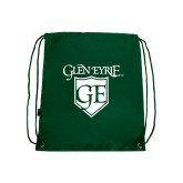Nylon Dark Green Drawstring Backpack-Glen Eyrie
