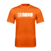 Performance Orange Tee-NAVS