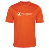 Performance Orange Heather Contender Tee-Navigators