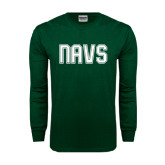 Dark Green Long Sleeve T Shirt-NAVS Collegiate Modern