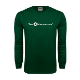 Dark Green Long Sleeve T Shirt-The Navigators
