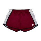Ladies Maroon/White Team Short-Navigators Sail