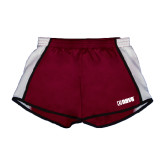 Ladies Maroon/White Team Short-NAVS
