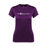 Ladies Syntrel Performance Purple Tee-The Navigators