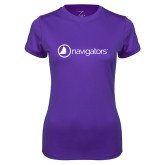 Ladies Syntrel Performance Purple Tee-Navigators