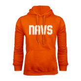 Orange Fleece Hoodie-NAVS Collegiate Modern
