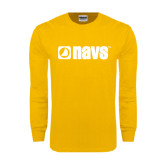 Gold Long Sleeve T Shirt-NAVS