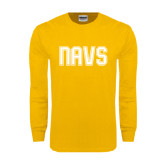 Gold Long Sleeve T Shirt-NAVS Collegiate Modern