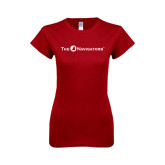 Next Level Ladies SoftStyle Junior Fitted Cardinal Tee-The Navigators
