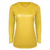 Ladies Syntrel Performance Gold Longsleeve Shirt-Navigators