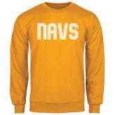 Gold Fleece Crew-NAVS Collegiate Modern