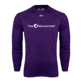 Under Armour Purple Long Sleeve Tech Tee-The Navigators