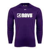 Under Armour Purple Long Sleeve Tech Tee-NAVS