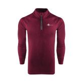 Under Armour Maroon Tech 1/4 Zip Performance Shirt-The Navigators