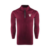 Under Armour Maroon Tech 1/4 Zip Performance Shirt-Glen Eyrie