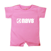 Bubble Gum Pink Infant Romper-NAVS