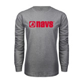 Grey Long Sleeve T Shirt-NAVS