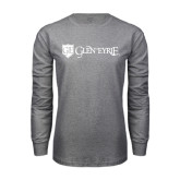 Grey Long Sleeve T Shirt-Glen Eyrie - Flat