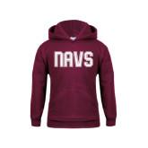 Youth Maroon Fleece Hoodie-NAVS Collegiate Modern