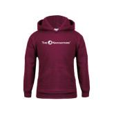 Youth Maroon Fleece Hoodie-The Navigators