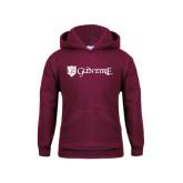 Youth Maroon Fleece Hoodie-Glen Eyrie - Flat
